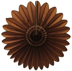 3-pack 18 Inch Tissue Paper Fanburst (Brown). Made in the USA by Devra Party.