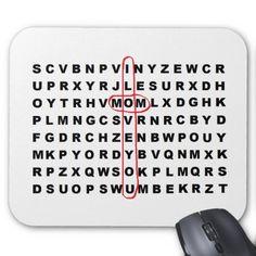"""Mom Wordsearch"" Mousepad"
