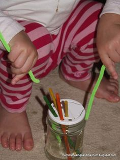 A fun list of 15 Easy and Budget friendly fine motor activities for younger toddlers!