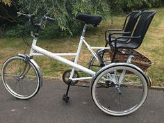 Tricycle with 2 pashley child seats