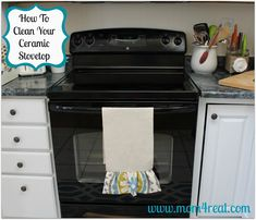 How To Clean Your Ceramic Stovetop - Mom 4 Real (Easy and inexpensive!)