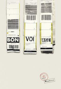 Expedia Tags print campaign by Ogilvy & Mather http://creativepool.com/ogilvy #Ogilvy #Expedia