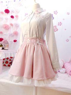 Designer Clothes, Shoes & Bags for Women Pastel Fashion, Kawaii Fashion, Lolita Fashion, Cute Fashion, Look Fashion, Girl Fashion, Fashion Outfits, Kawaii Dress, Kawaii Clothes