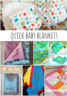 Simple and Quick 30 Minute Baby Blankets- great list for when you are needing a gift quick!