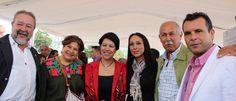 La secretaria de Turismo del Edo Mex visita el Gastrotourprehispánico en Malinalco, acompañada del Alcalde Vidal Pérez Vargas y su esposa, el presidente del comité del pueblo Mágico Leonel García Quintanilla
