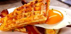 And cheese hash brown waffle