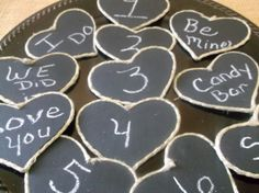 Wedding Table Numbers Heart Shaped Wedding by DivineRusticCreation, $26.00