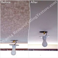 Close up of texture removal around a light fixture.  #CeilingFinishes #CeilingDesign #CeilingTextureRemoval #SmoothCeilings #PopcornCeilingRemoval #PopcornCeilings #CeilingRenovations #Vancouver