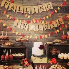 How cute is this signage for your dessert table?? #swankyidos Orlando Wedding Planner + Orlando Wedding Designer + Florida Wedding Planner + Swanky I Do's + Fall Inspiration