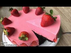 Recepti za pripremu kolača: (Nobake) Strawberry Yogurt Strawberry Mousse Pie R. Mousse Pie Recipe, Mousse Cake, Strawberry Mousse, Strawberry Recipes, Melting Chocolate, Hot Chocolate, Oreo Torta, Alphabet Cake, No Bake Chocolate Cheesecake