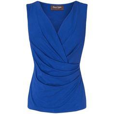 Phase Eight Christina sleeveless fixed wrap top ($31) found on Polyvore