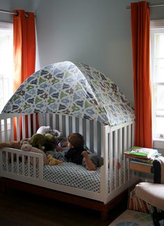 Toddler Bed Tent 2 by DropDeadCute via Flickr & Image result for toddler bed tents | Beds | Pinterest | Toddler ...