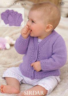 Sirdar Snuggly 4 ply Baby Girls Cardigan 1520