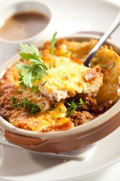 Nákyp zo zemiakovej kaše s mäsom