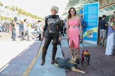 Brienne of Tarth and Shae travel with some K-9 companions ...