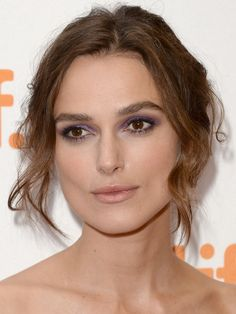 Keira Knightley's Purple Eye Make Up