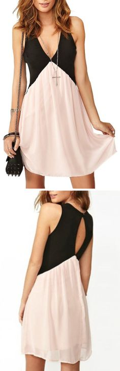 Pink + Black Dress - Super sassy!