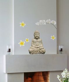 Take a look at this Buddha & Orchids Wall Decal Set on zulily today!