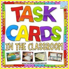 An entire website devoted to using Task Cards in the classroom! {Task cards are highly engaging, easily differentiated, and ready-to-use individual tasks geared toward specific topics of instruction.}