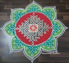 Rangoli Designs Flower, Rangoli Border Designs, Rangoli Designs With Dots, Rangoli With Dots, Beautiful Rangoli Designs, Dot Rangoli, Diy And Crafts, Arts And Crafts, Rangoli Borders
