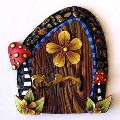 Wild Mushroom Fairy Door Kids Wall Art Home Decor by Claybykim, $22.00