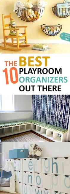 Great ideas to tidy up that messy playroom!