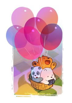 We Bare Bears : Grizz, Panda,Ice bear