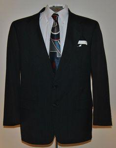 Hart Schaffner Marx 41 R Mens Blazer Gray Two Button Wool Blend Sport Coat #HartSchaffnerMarx #TwoButton free shipping auction starting at $12.99