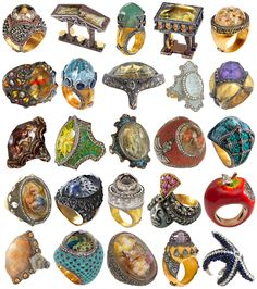"""Sevan Bıçakçı, aka """"Lord of the Rings"""". I've posted additional collections of his rings here, here, here, and here.  Bıçakçı is an amazing artist; he's produced a phenomenal body of work, but it's definitely not cheap. I've only seen a couple of..."""
