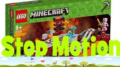 Building in Stop Motion Lego Minecraft the Nether Railway 21130 with music Lego Minecraft, Stop Motion, Lego Sets, Tv, Building, Music, Musica, Lego Games, Musik