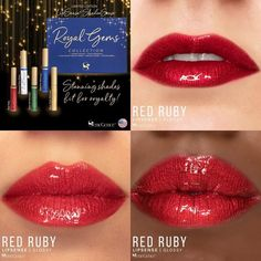 Ruby Red LipSense by SeneGence is a Limited Edition lipcolor is described as a true, rich red with a metallic finish.  Part of the Royal Gems collection, click to purchase yours.  #rubyred #lipsense #senegence #royalgems #redlips