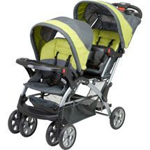 Walmart: Baby Trend - Sit N Stand Double Stroller, Carbon... Would fit our infant carseat...