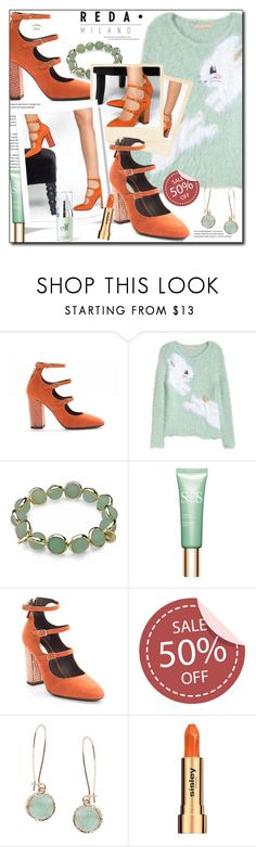 """""""Reda Milano Fashionable Woman's Shoes"""" by sanseiveria ❤ liked on Polyvore featuring H&M, Maggy London, Clarins, Humble Chic and Sisley"""