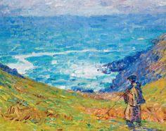 Fisherman on Cliffs - John Peter Russell 1900-04 Australian 1858-1930 Impressionism