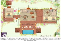 tropical home floor plans - Google Search