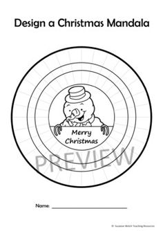Mandala Templates – Design a mandala pattern – CHRISTMAS theme Teacher Resources, Teacher Pay Teachers, Christmas Mandala, Mandala Pattern, Christmas Themes, Art Pieces, Letters, Templates, Color