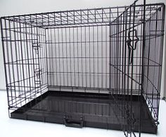 Small Medium Large Xlarge Xxlarge Dog Cage Crate - Silver Or Black With Divider