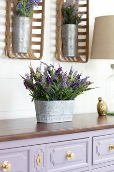 DIY Purple Dresser makeover with Divine Lavender - Fusion Mineral Paint Purple Paint Colors, Purple Hues, Color Of The Year, One Color, Purple Dresser, Paint Supplies, Mineral Paint, Ultra Violet, Accent Pieces