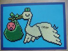Stork Baby hama perler beads