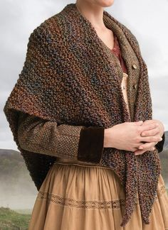 Knitting Kit for Wavering Both Sides Now Shawl - Easy shawl from the official Outlander kits from Lion Brand. Inspired by a shawl that Claire wears, this kit includes yarn and pattern.
