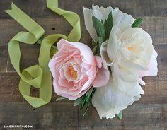 Crepe Paper Peonies Bouquet