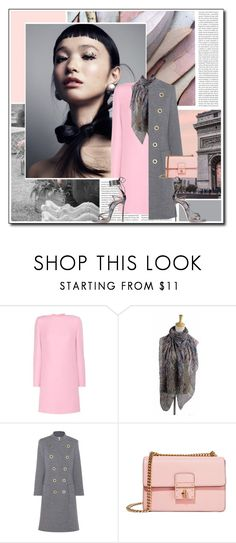 """Pink & Grey (2)"" by littlefeather1 ❤ liked on Polyvore featuring Oris, Valentino, Chloé, Dolce&Gabbana, Dsquared2, topsets, dresses and polyvoreeditorial"