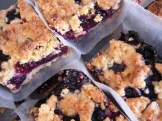 Blueberry Crumb Bars | Annie's Eats