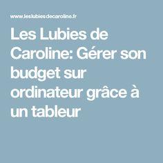 Les Lubies de Caroline: Gérer son budget sur ordinateur grâce à un tableur