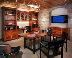 Home Office-- Home designed by Vaught Frye Larson Architects from Fort Collins, Colorado.