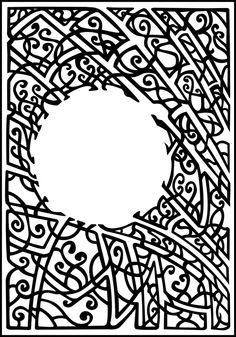 art nouveau lines | Art nouveau coloring pages