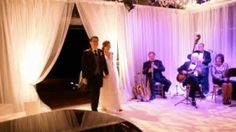 Magnolia Jazz Band— Dale Mills, Andy Norblin, Robbie Schlosser (me), Carole Borelli in Carmel Valley wedding reception. CLICK this photo for a few thoughts on why I like it.