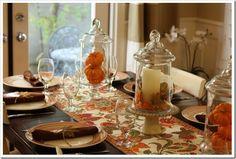 A Fall Tablescape: Birthday Dinner