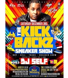 SATURDAY DEC. 3RD - BEST WESTERN ROCKVILLE CENTRE NY - HOSTED BY @VH1's LOVE & HIP HOP CELEBRITY @POWER105's @DJSELF - - GONNA BE OVER 1000 PAIRS OF SNEAKERS FOR BUY-SELL-TRADE! BE A PART OF THIS EPIC CULTURAL SNEAKER STREETWEAR MUSIC EXPO! TAKE LIRR FROM YOUR CITY!!! $20 GENERAL ADMIN TICKETS / $25 VIP AVAILABLE NOW! KIDS UNDER 10 FREE  - - WE WILL BE IN THE BEST WESTERN MILL RIVER MANOR IN THE CROWNE BALLROOM WITH SNEAKERS - STREETWEAR - MODELS - DJS-PERFORMERS - ARTISTS - DISPLAYS…