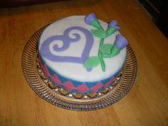 Roses & Heart Cake.